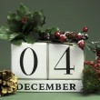 December seasonal save the date calendar — Stock Photo