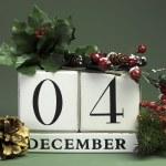 December seasonal save the date calendar — Stock Photo