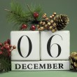 December seasonal save date calendar — Stock Photo #32570125