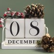 Save the date shabby chic white calendar for individual days in December — Lizenzfreies Foto