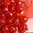 Stock Photo: Red Maraschino Cherries