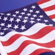 USA Stars and stripes flag close up for background, travel or holiday & events — Stock Photo