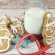 Christmas Santa and Snowman Gingerbread Cookies — Stock Photo