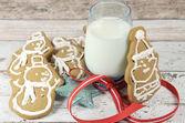 Jul tomte och snögubbe pepparkakor — Stockfoto