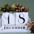 Stock Photo: Seasonal Calendar for Christmas Advent days or specific dates in December.