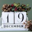Seasonal Calendar for Christmas Advent  days or specific dates in December. — Foto Stock
