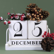 Постер, плакат: Seasonal vintage calendar for individual days in December