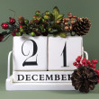 Seasonal vintage calendar for individual days in December — Stock Photo