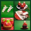 Christmas food collage — Stock Photo