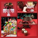 Christmas food collage — Stock Photo #37160989