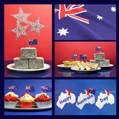 Happy Australia Day, January 26, collage of five image — Stock Photo