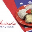 Stock Photo: Australia Day dining table setting