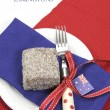 Australia Day dining table setting — Stock Photo