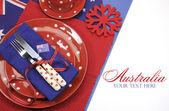 Australia Day dining table setting — Foto Stock