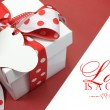Red and white polkdot gift — Stock Photo #38020575