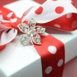 Red and white polkdot gift — Stock Photo #38020577