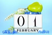 SAve the date vintage calendar for February — Stock Photo