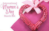 Happy International Womens Day, March 8, celebration greeting me — ストック写真