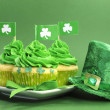 Happy St Patrick's Day cupcakes — Stock Photo