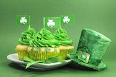 Happy St Patrick's Day cupcakes — Stock Photo