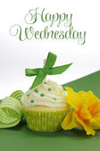 Beautiful decorated and colorful cupcake, one for each day of the week. — Stock Photo