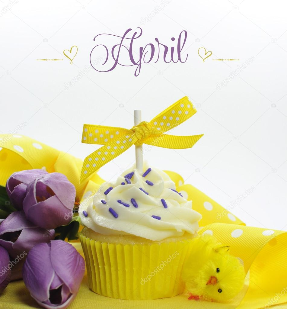 Flowers Of Each Month: Beautiful Cupcake With Seasonal Flowers And Decorations