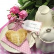 Happy Mothers Day breakfast setting — Stock Photo