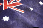 Background close up of Australian Southern Cross flag for nation — Stock Photo