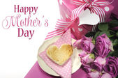Happy Mothers Day breakfast setting — Foto Stock