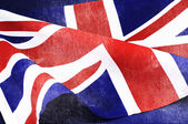 Background close up of British Union Jack flag for Great Britain — Stock Photo