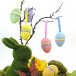 Happy Easter Springtime Eggs — Stock Photo
