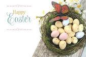 Happy Easter Springtime Eggs — Stock Photo