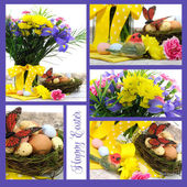 Happy Easter collage — Stock Photo