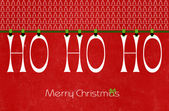 Happy Christmas, Ho Ho Ho, letters party bunting hanging from pe — Stockfoto