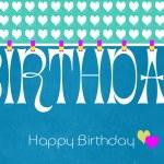 Blue theme Happy Birthday Bunting Wallpaper — Stock Photo