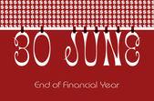 30 June Bunting Wallpaper — Stock Photo