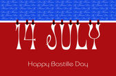 Bastille Day Bunting Wallpaper  — Stock Photo