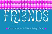 Freindship Day Bunting Wallpaper — Stock Photo