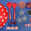 USA Fourth of July Party Decorations — Stock Photo #46563919