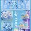 Постер, плакат: Blue Baby Boy Collage