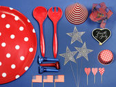 USA Fourth of July Party Decorations — Stock Photo
