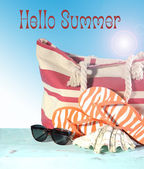 Hello Its Summer, Summertime iis here. — Stock Photo