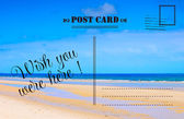 Wish You Were Here summer vacation postcard — Stock Photo
