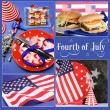Happy Fourth of July, Independance Day collage — Stock Photo #48426193