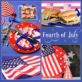 Happy Fourth of July, Independance Day collage — Stock Photo