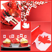 Happy Canada Day collage — Foto Stock