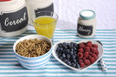 Healthy Diet High Dietary Fiber Breakfast — Stock Photo