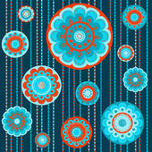 Abstract flower seamless pattern — Stock Vector