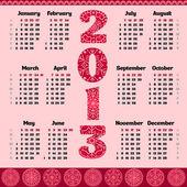 Vector calendar for 2013 year — Stock Vector