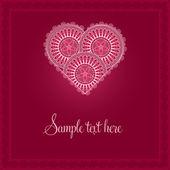 Valentinstagskarte mit gemusterten Herzen — Stockvektor